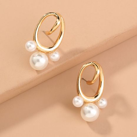 fashion new  baroque pearl  shaped oval earrings wholesale  NHAN240699's discount tags