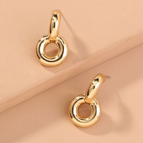 punk simple   small metal round   new trend earrings wholesale  NHAN240704's discount tags
