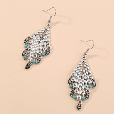 Retro exaggerated   diamond-shaped tassels droplets creative fashion earrings  NHAN240712's discount tags