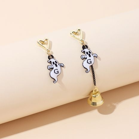 hot sale ghost bell Halloween asymmetrical tassel earrings wholesale NHRN250936's discount tags