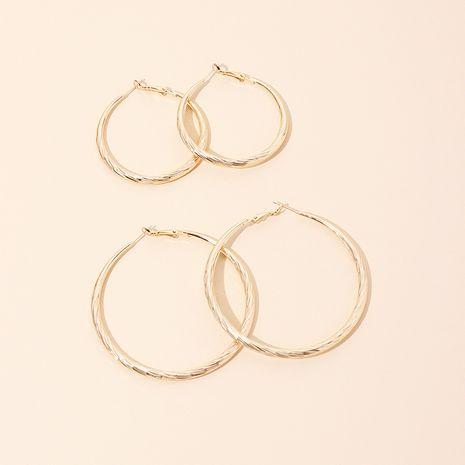 Geometric big circle metal ladies ring earrings wholesale NHRN250937's discount tags