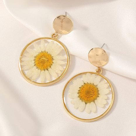 new daisies silver needle earrings  wholesale NHAN250930's discount tags