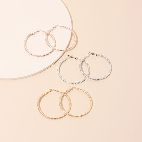 Frosty geometric big circle simple earring wholesale NHRN250943's discount tags