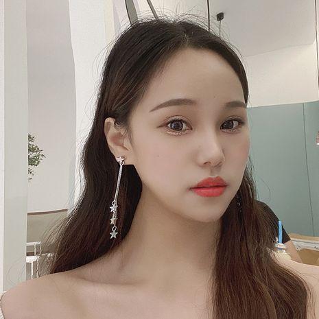 Fashion sweet hot-saling wild long tassel niche ladies earrings NHRN250948's discount tags