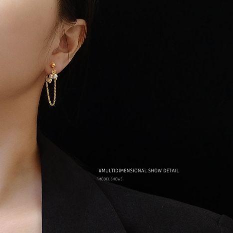 freshwater pearl texture tassel fashion earrings wholesale NHOK250959's discount tags