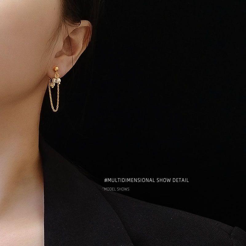 freshwater pearl texture tassel fashion earrings wholesale NHOK250959