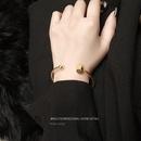 Korea round steel ball open cord  allmatch bracelet wholesale NHOK250973
