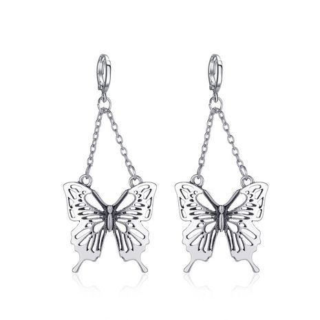 new retro butterfly creative long cutout  earrings wholesale NHMO251008's discount tags