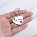 fashion wild Best Friends diamond stitching loveshaped necklace for women NHMO251020