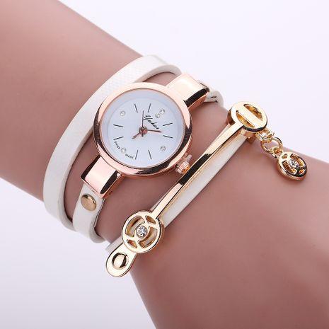 Correa de moda casual pulsera de cuerda de tres círculos para mujer reloj de moda de cuarzo al por mayor NHSS251029's discount tags