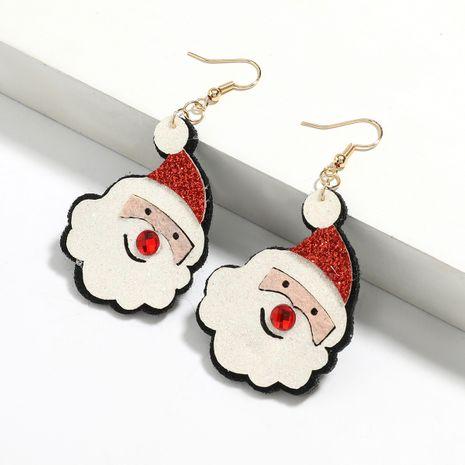 flannel cartoon Christmas elk alloy Christmas bell earrings wholesale NHJE251033's discount tags