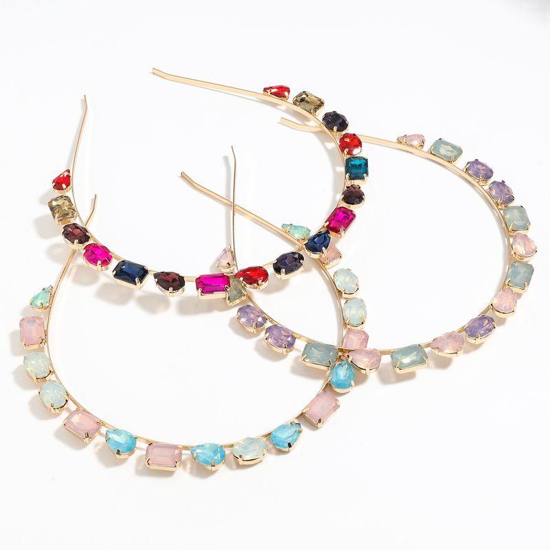 alloy diamond geometric glass flat headband wholesale nihaojewelry NHJE251035