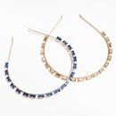 simple alloy diamondstudded square rhinestone flat hair band headband wholesale NHJE251039