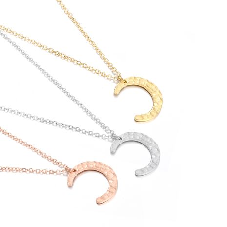 Fashion moon pendant stainless steel women's necklace wholesale NHJJ251067's discount tags