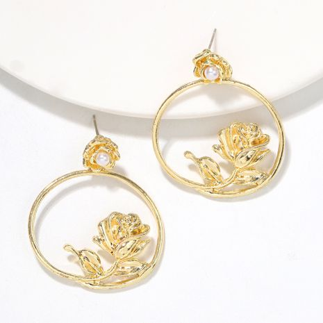 New hot-selling hollow flower creative exaggerated hot style earrings wholesale NHJQ251072's discount tags