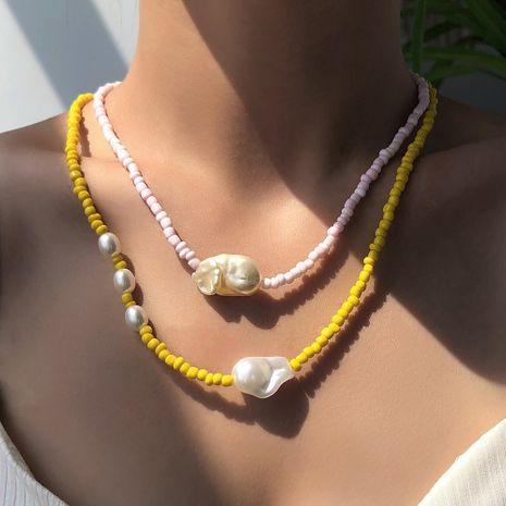 Collier de femmes de style ethnique de perles de riz de mode en gros NHMD251088's discount tags