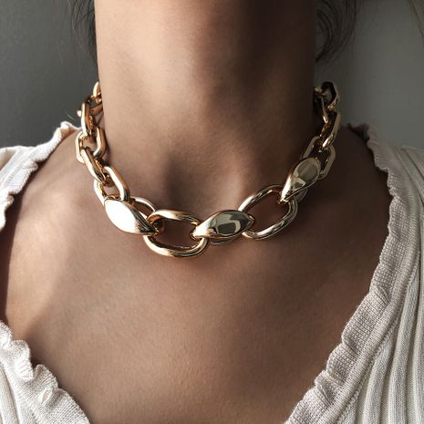fashion street style new alloy stitching short necklace for women hot sale NHMD251090's discount tags