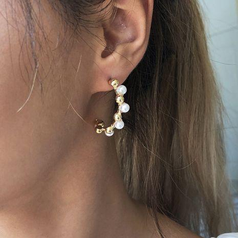 fashion simple  geometric pearl creative earrings wholesale NHMD251092's discount tags