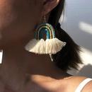 ethnic style tassel retro bohemian rainbow alloy woven earrings hot sale wholesale NHMD251094