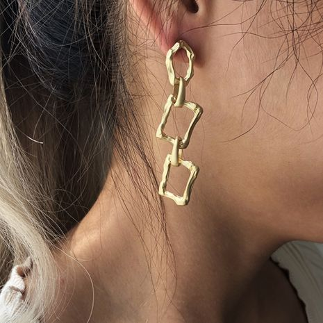 exaggerated alloy fashion simple long geometric irregular earrings wholesale NHMD251095's discount tags