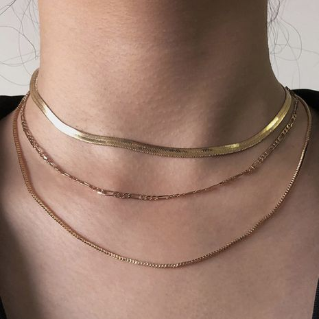 multi-layer  fashion simple new hot-selling alloy necklace for women NHMD251098's discount tags