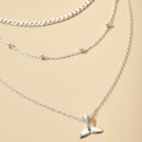 Multilayer set necklace geometric metal alloy round bead fishtail pendant  womens necklace  NHGY251107