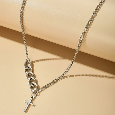 Retro cross necklace women's alloy  short hip hop clavicle chain wholesale NHGY251110's discount tags