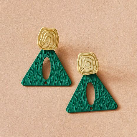 ancient bronze triangle ancient ethnic style retro bohemian style earrings wholesale NHGY251120's discount tags