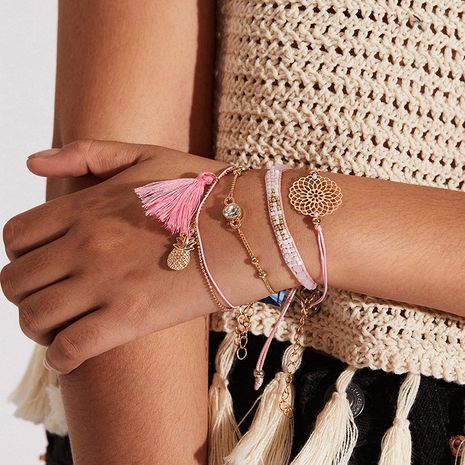Bracelet en alliage de pompon d'ananas simple de style ethnique bohème de mode pour les femmes NHNZ251126's discount tags