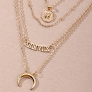 Fashion multilayer moon 6 combinations  letter pendant womens necklace NHNZ251132