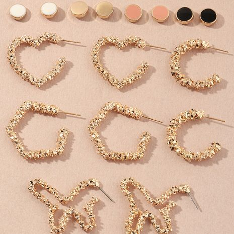 simple bump texture love butterfly fashion metal star earrings wholesale NHNZ251134's discount tags