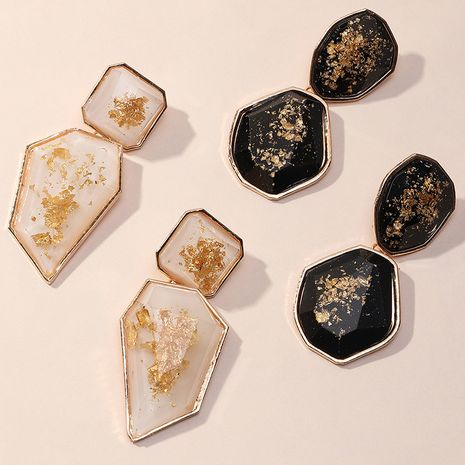 simple geometric irregular three-dimensional resin exaggerated earrings wholesale NHNZ251138's discount tags