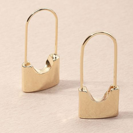 creative fashion  lock-shaped retro earrings wholesale NHNZ251140's discount tags