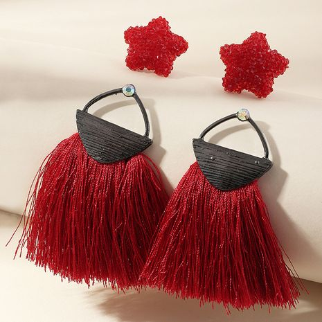 creative resin star ethnic style tassel earrings wholesale NHNZ251142's discount tags