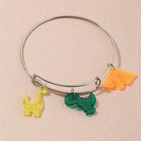 wholesale pendentif dinosaure dessin animé enfantin bracelet en alliage métallique simple pour les femmes NHNZ251143's discount tags