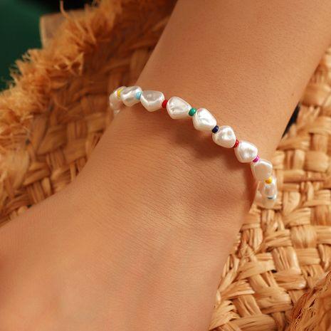 Bracelet de perles irrégulières en gros à la main pour femmes NHNZ251144's discount tags