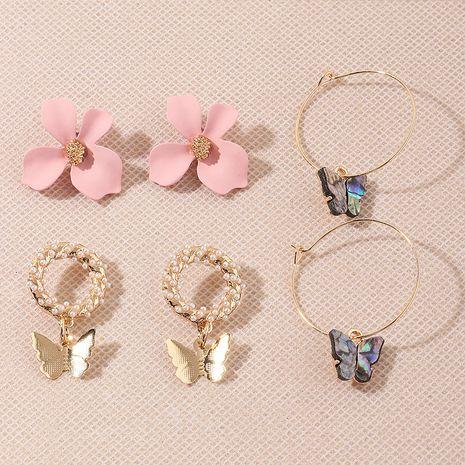 fashion multi-element wild flower butterfly earrings wholesale NHNZ251149's discount tags
