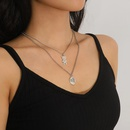 Fashion cute bear  metal clavicle necklace  alloy womens necklace  NHXR251167