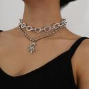Creative diamond dragon pendant combination womens necklace NHXR251166