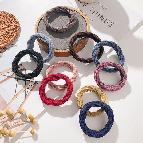 Mode coréenne nouvelle bague de cheveux audacieuse de couleur pure polyvalente douce et haute élasticité ensemble de chouchous NHPF251174's discount tags