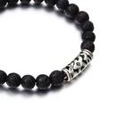 new natural volcanic stone ethnic style bracelet yoga beaded elastic bracelet wholesale NHPF251206