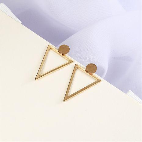 fashion creative women's geometric triangle back hanging geometric earrings wholesale NHPF251208's discount tags