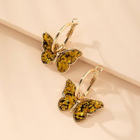 Korean fashion simple women's butterfly earrings wholesale nihaojewelry NHAI251216's discount tags