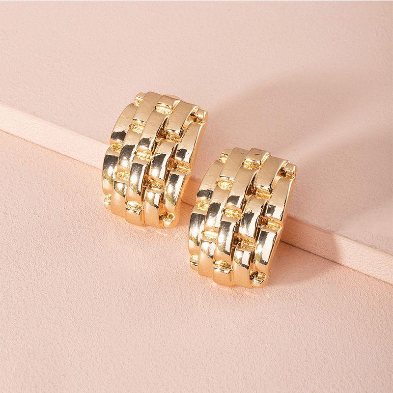 Fashion new exaggerated new geometric retro alloy earrings for women NHAI251222