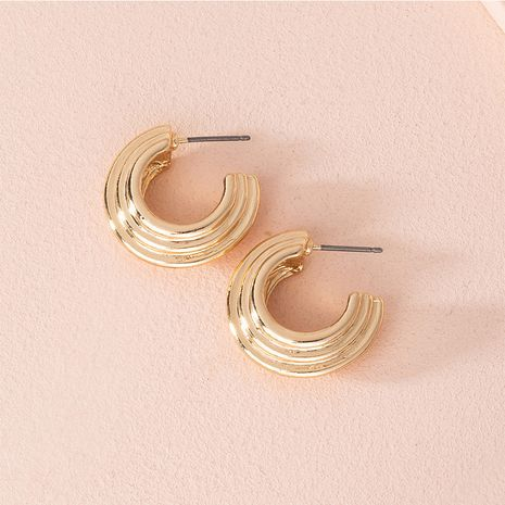 Fashion new geometric simple alloy earrings for women wholesale NHAI251228's discount tags