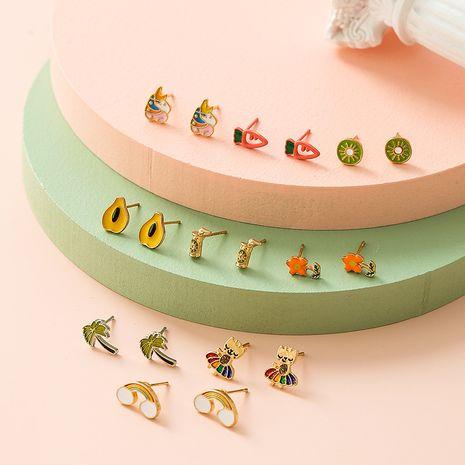Boucles d'oreilles à la mode mignonnes de fruits tropicaux pour les femmes en gros NHSD251275's discount tags