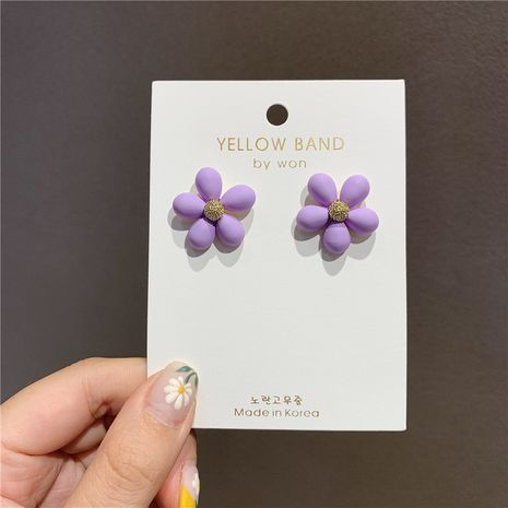 925 Silver Needle Korea Flower Fashion Holiday Style alloy Earrings for Women Wholesale  NHXI251288's discount tags