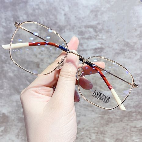 fashion big frame new glasses trend retro face flat glasses wholesale nihaojewelry NHKD235514's discount tags