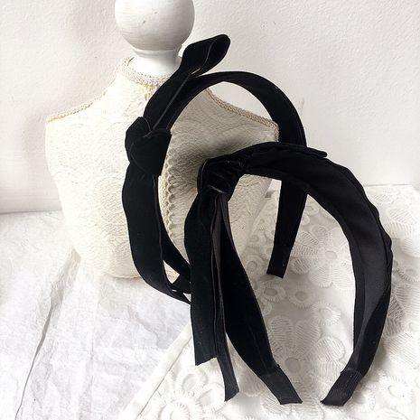 black velvet side double-layer bow headband  wholesale nihaojewelry NHHI240783's discount tags