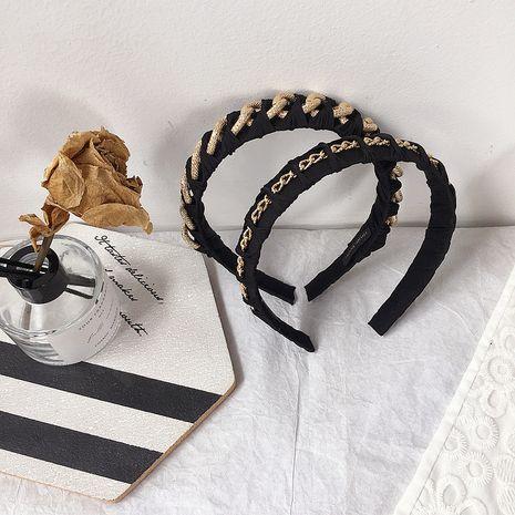 nueva hebilla de cabeza de diadema de cadena trenzada retro coreana al por mayor nihaojewelry NHHI240786's discount tags